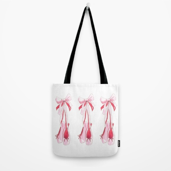 Ballet Slipper Tote Bag