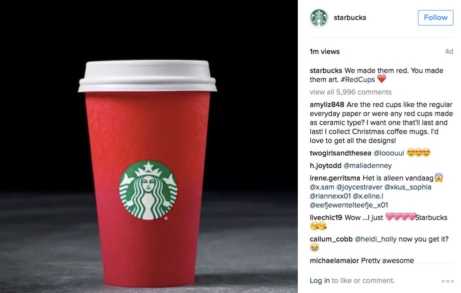 Starbucks Red Cup Holiday Ad