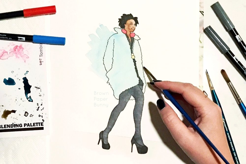 Denver Fashion Week Fashion Illustration