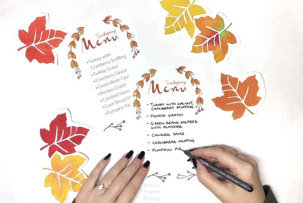 Free Thanksgiving Menu Download