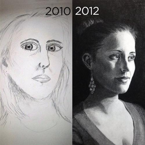 Self portrait comparison BrownPaperBunny Jessica Mack