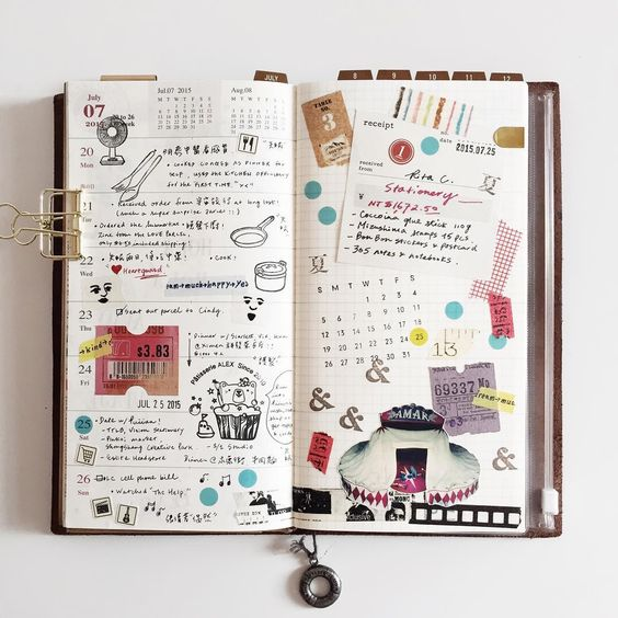 Journal with stickers