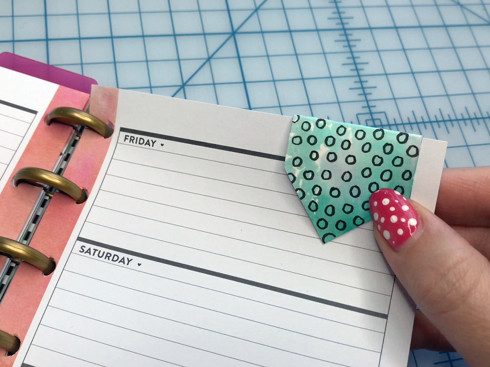 How to make a magnetic planner bookmark By BrownPaperBunny