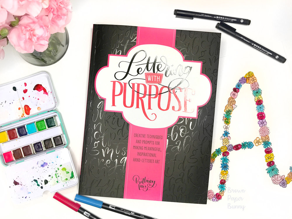 Lettering with Purpose by Brittany Luiz Review by BrownPaperBunny