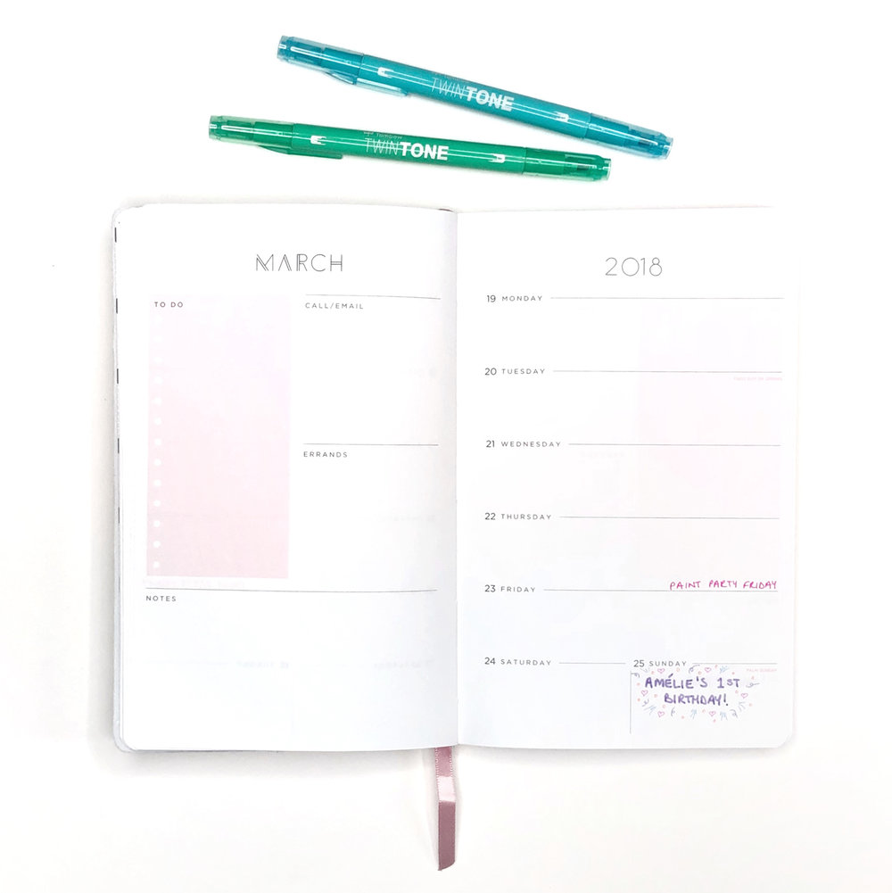 How to Draw Pretty Patterns in Your Planner by Jessica Mack of BrownPaperBunny