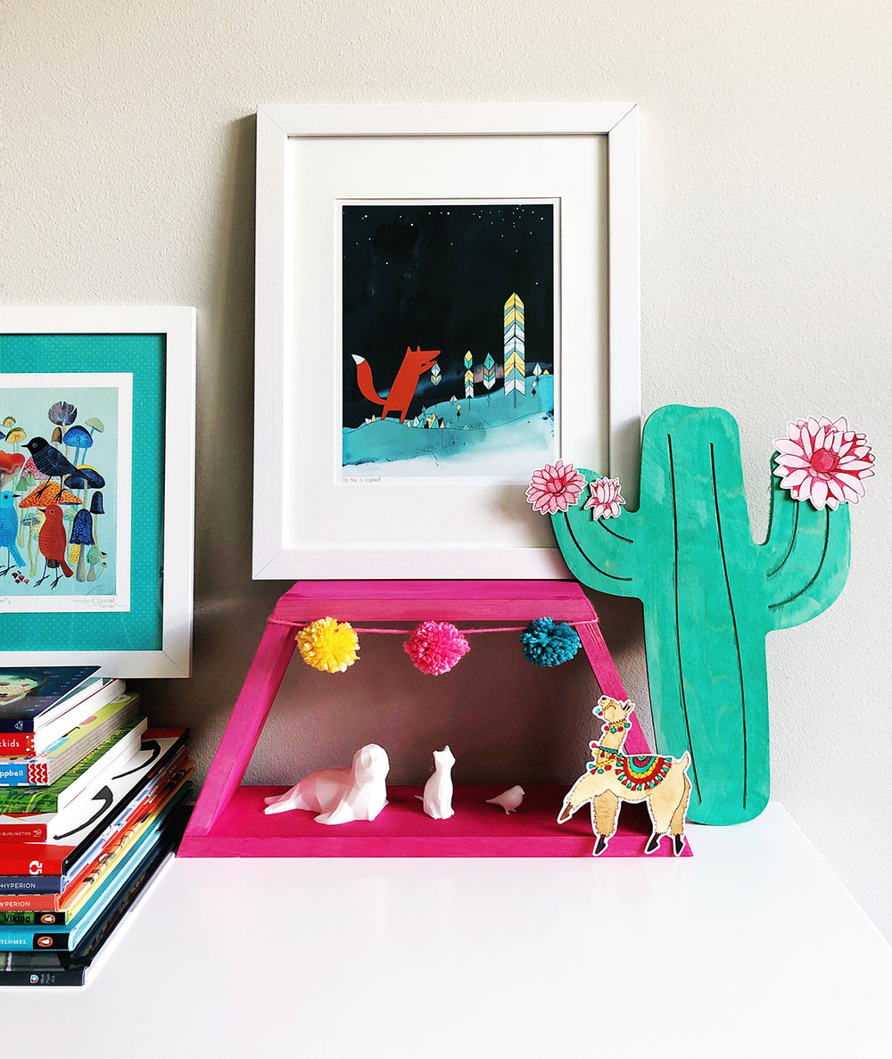 Bright Playroom Decor with Walnut Hollow — by Jessica Mack of BrownPaperBunny