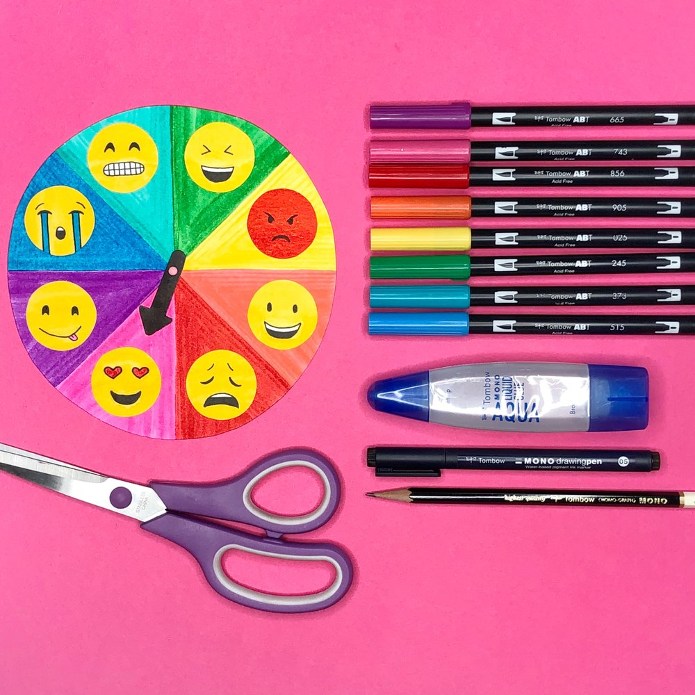 How to create an emoji mood wheel by Jessica Mack of BrownPaperBunny