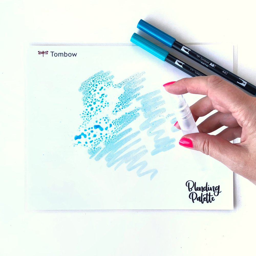 How to Create a Watercolor Background for Your Lettering by Jessica Mack of BrownPaperBunny