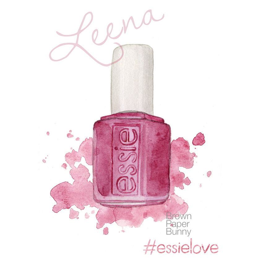 Watercolor nail polish, created for Essie as part of a new product launch.