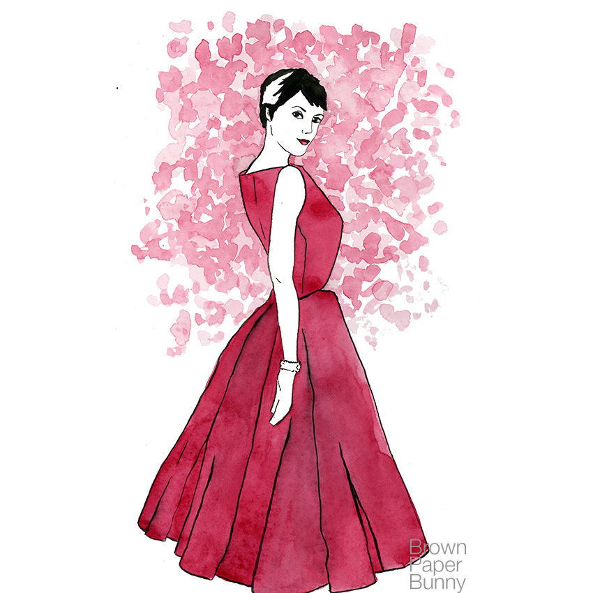 Watercolor Audrey Hepburn, personal project.