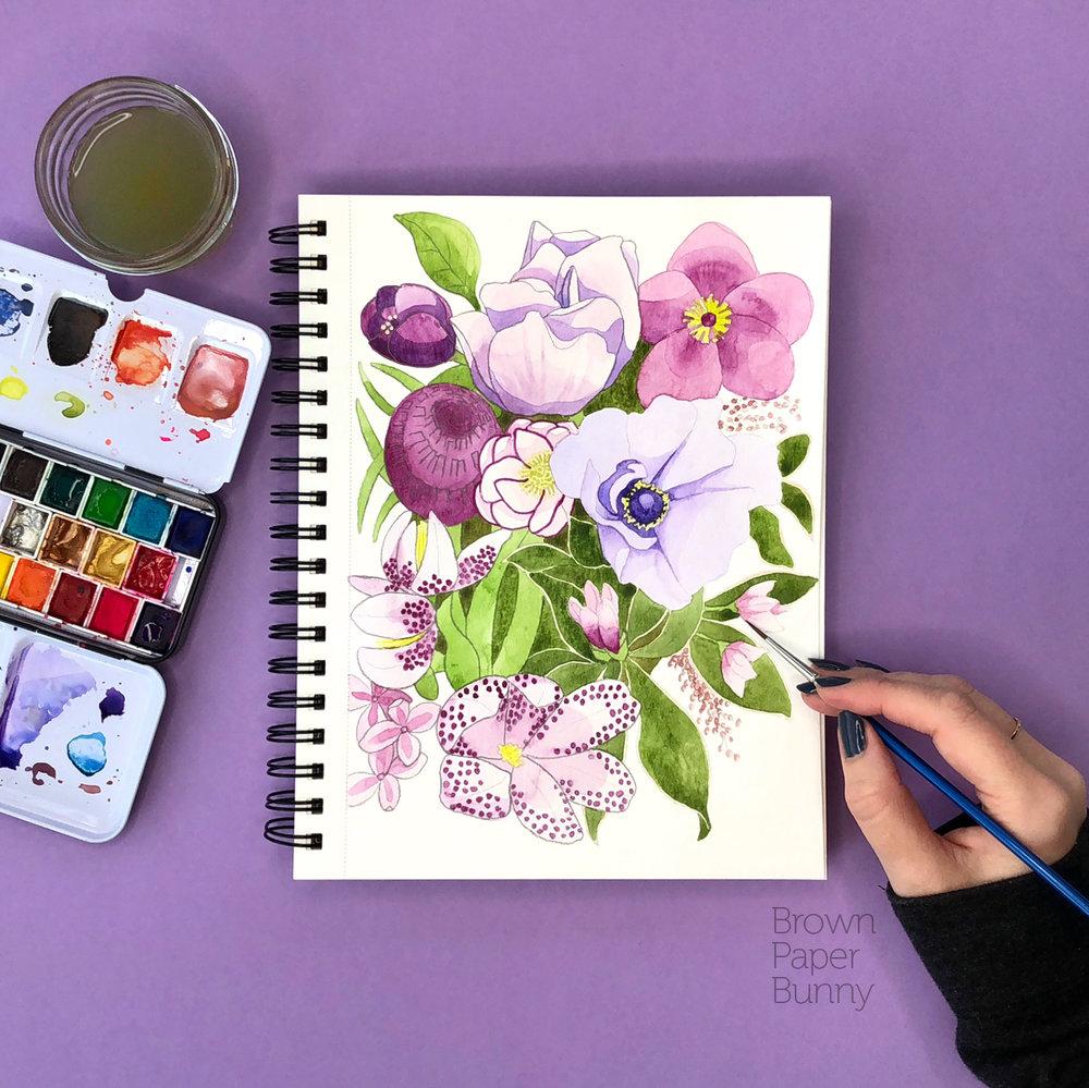 Created on behalf of Prima Watercolors.