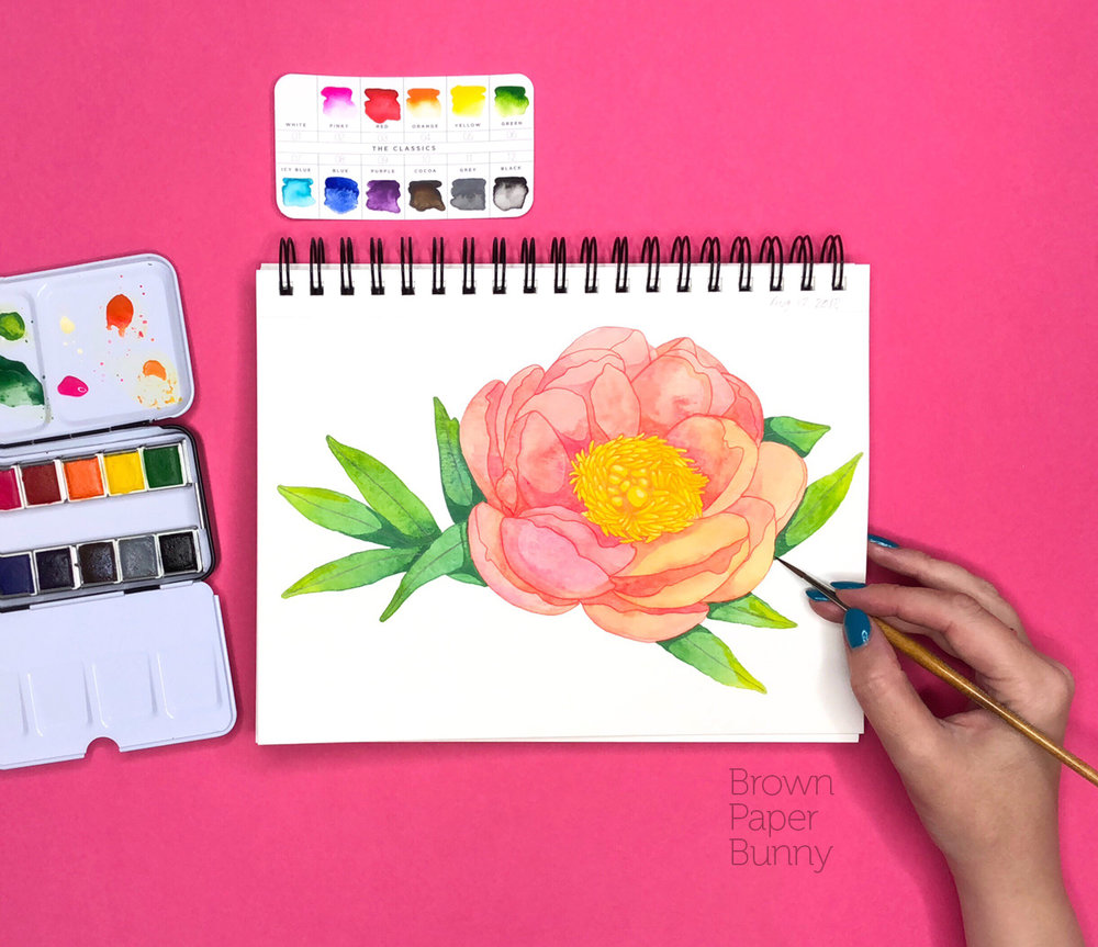 Watercolor illustration created for Prima Watercolors.