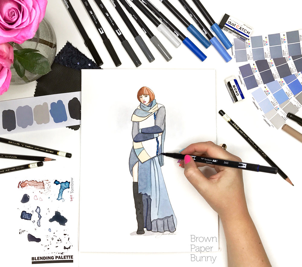 Created on behalf of Tombow, for a Fashion Week campaign.
