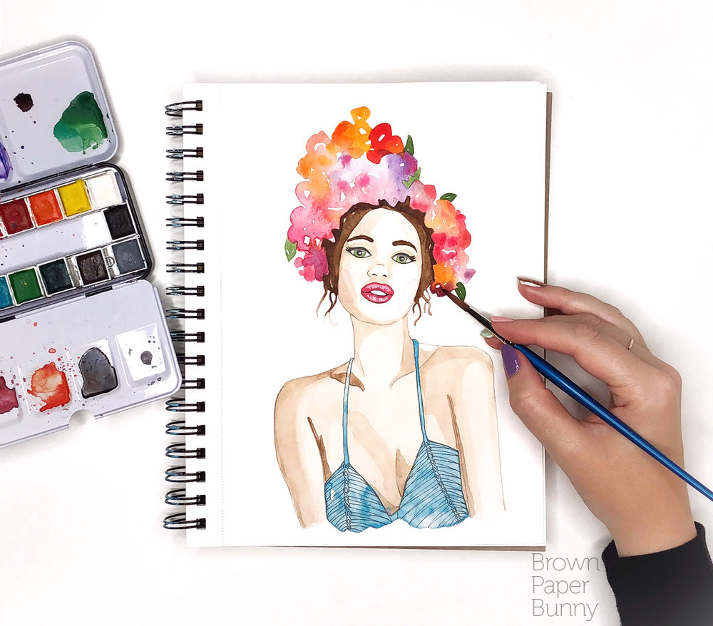 Watercolor illustration created for Prima Watercolors.