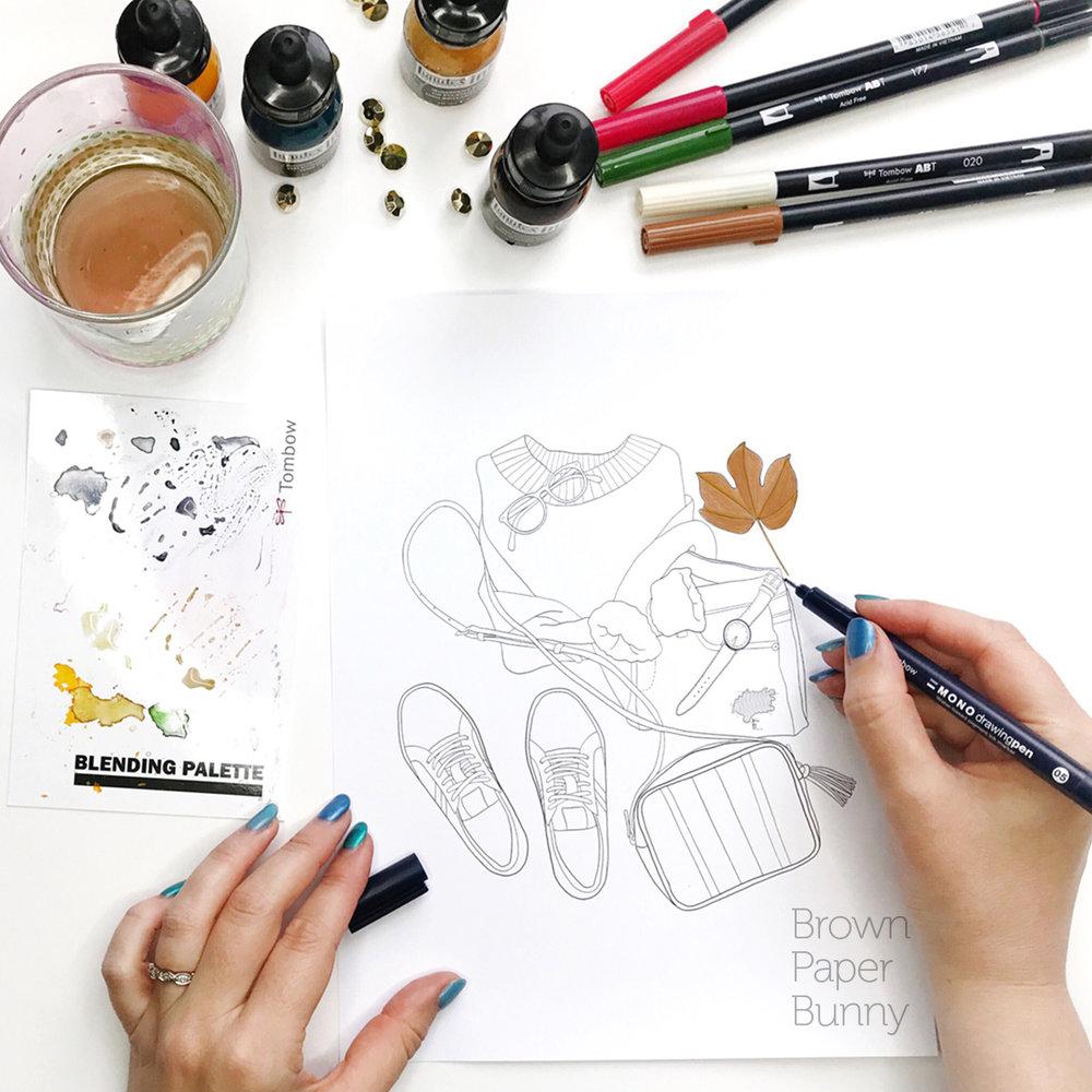 Fashion Illustration Coloring Book