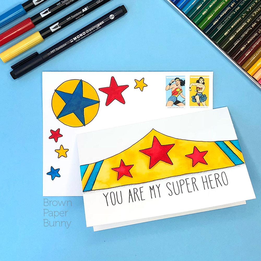 Hand-lettered card created on behalf of Tombow