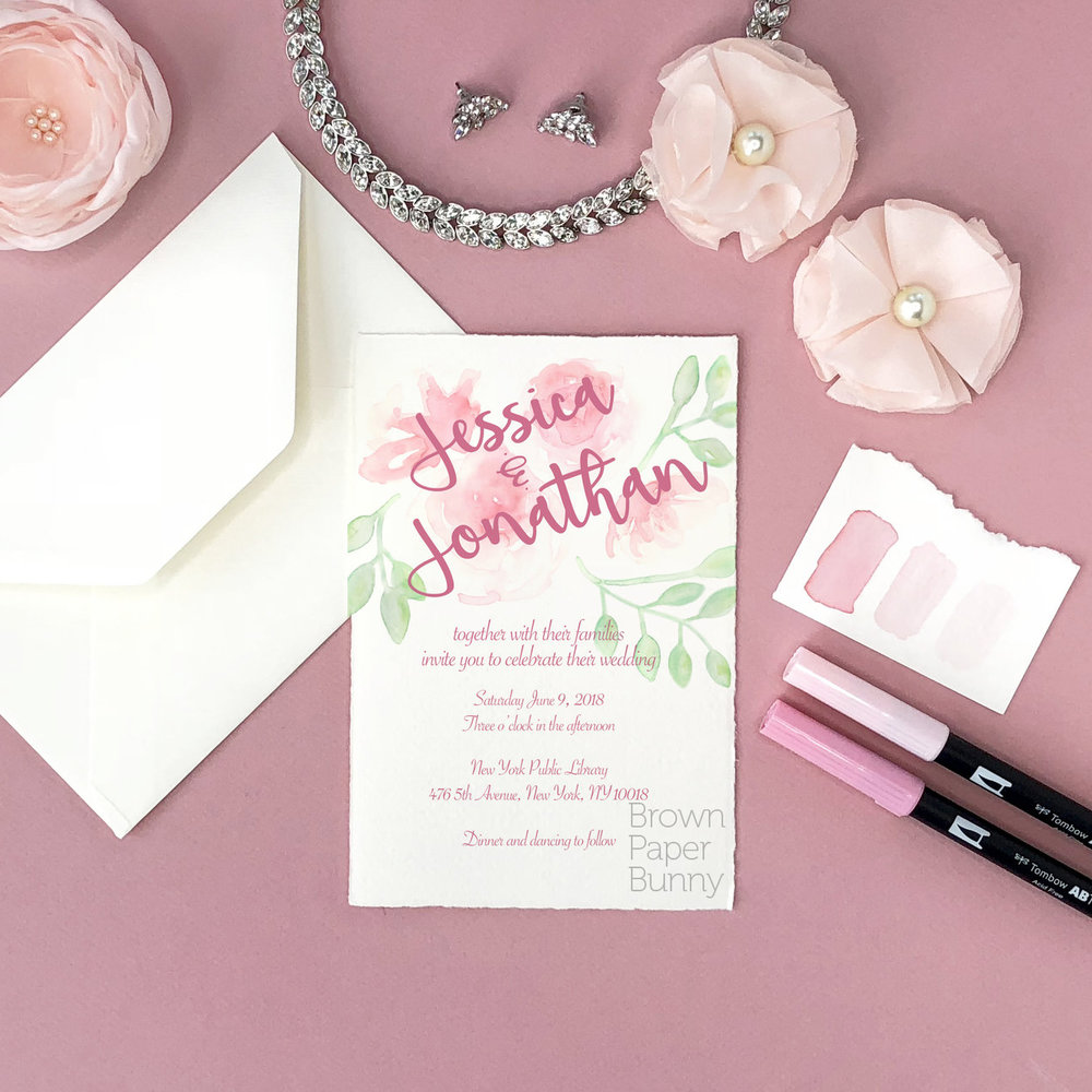 Wedding invitation created on behalf of Tombow