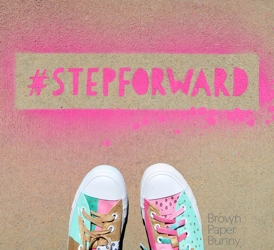 Stencil lettering created on behalf of Famous Footwear