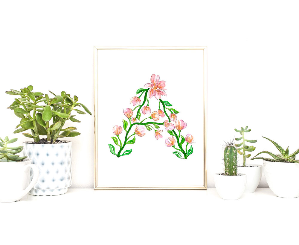 Spring Flower Letters with Tombow Dual Brush Pens by Jessica Mack of BrownPaperBunny