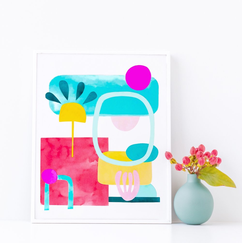 How to Make an Abstract Collage by Jessica Mack of BrownPaperBunny