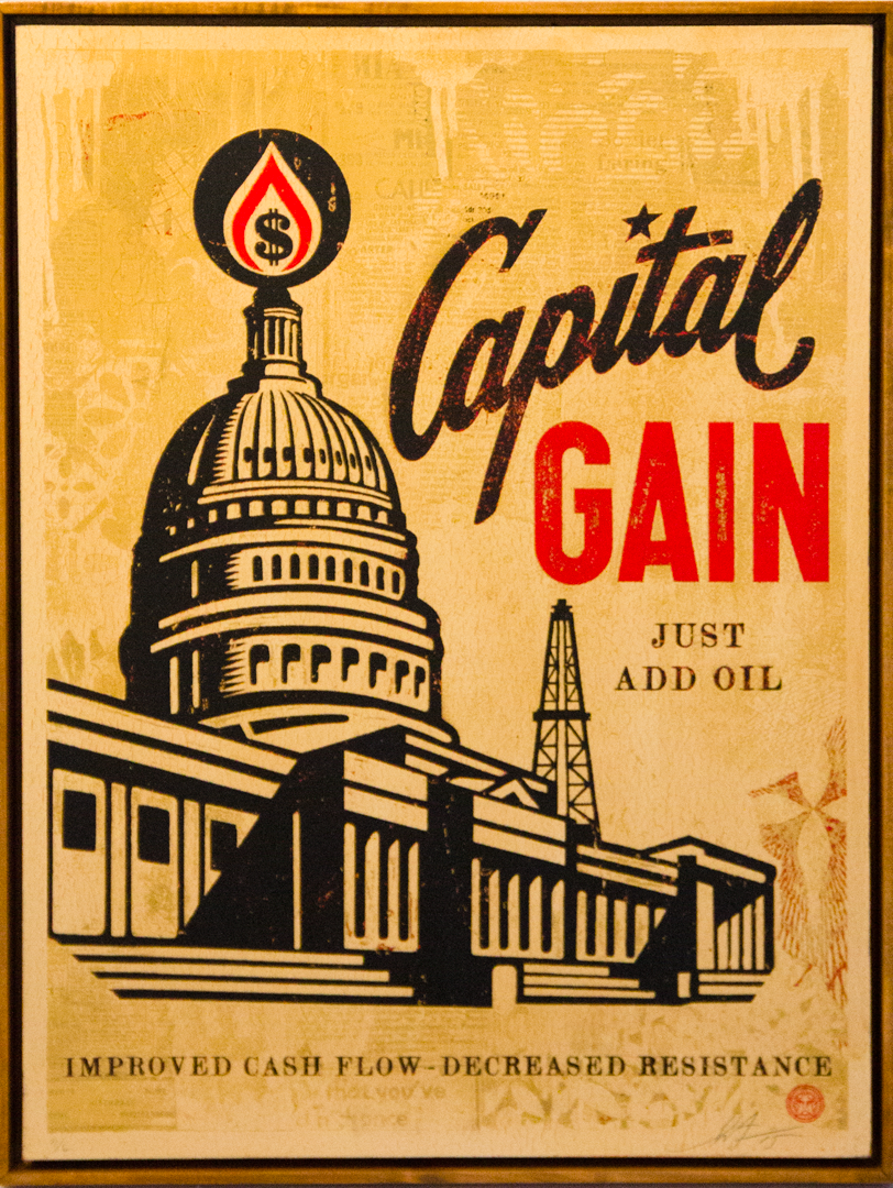 "SHEPARD FAIREY  ""CAPITAL GAIN"" LIMITED EDITION PRINT $3,000"