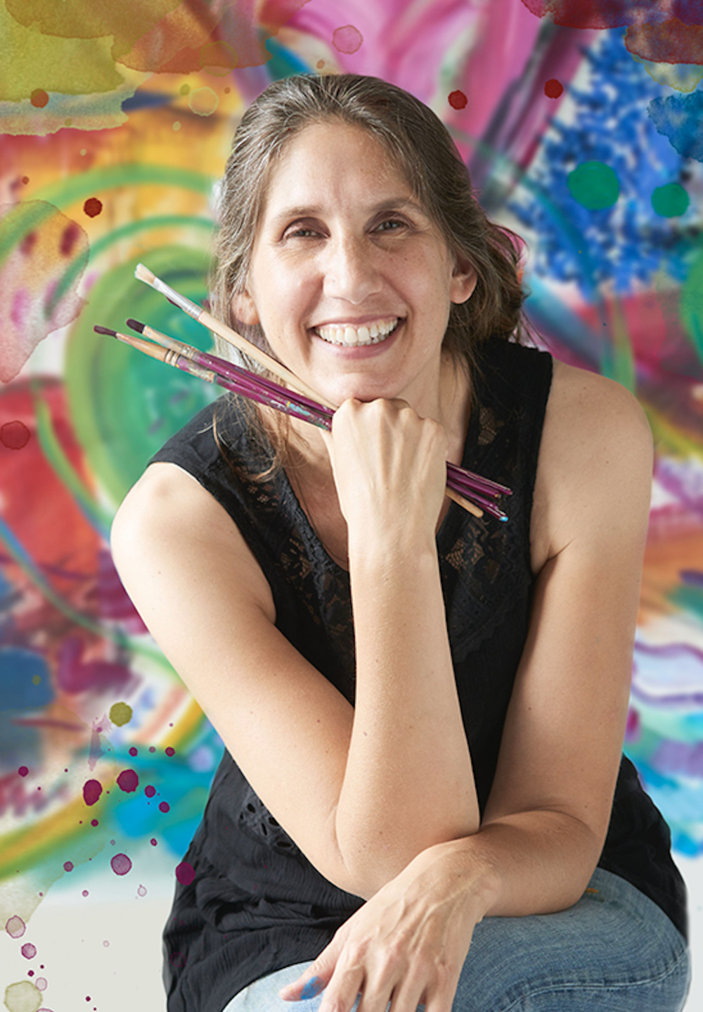 Special guest teacher, Larissa Davis! - Larissa is an Artist and Creatively Fit Coach teaching Soul Path Art, a fun collection of anyone-can-do-this creativity exercises to build right-brain power, connect us to our intuition, and catalyze personal growth.