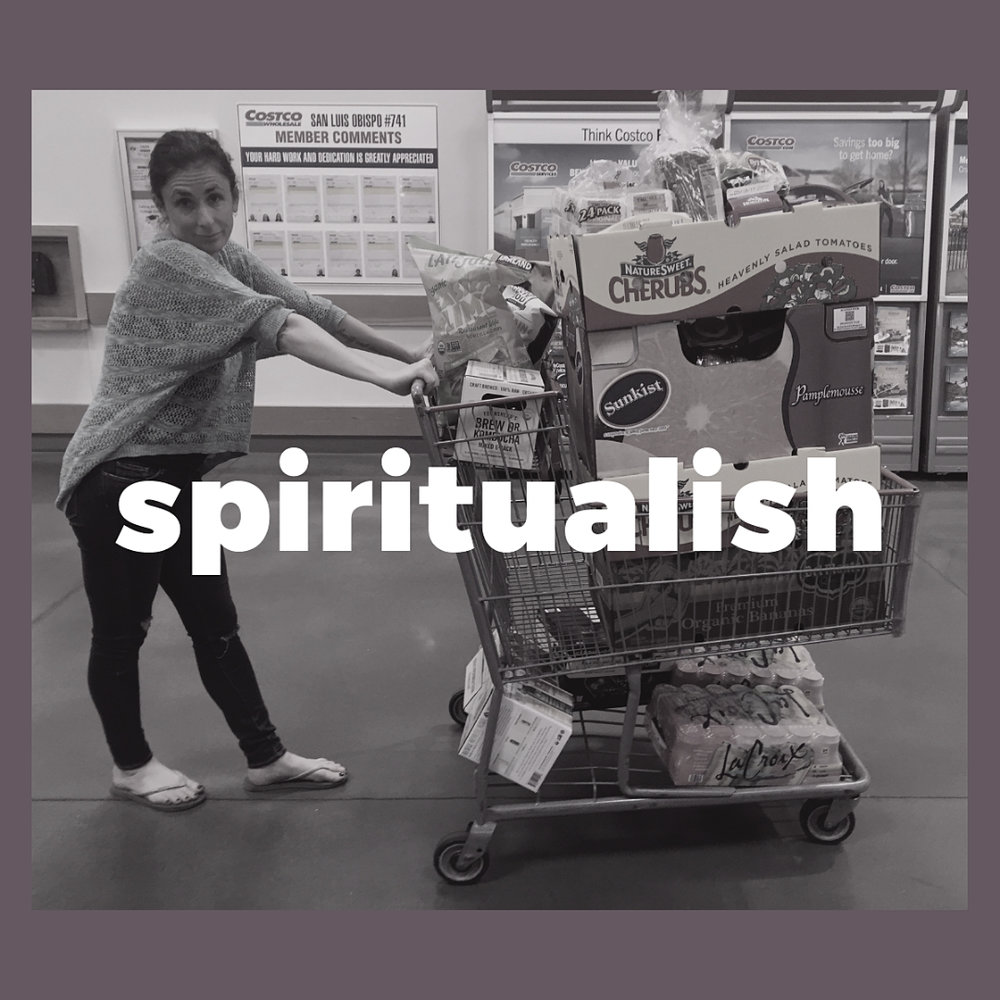 Photo: Laura in a Costco (if you want to know the backstory, listen!).
