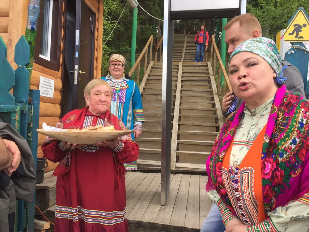 We visited an outdoor museum today, set up like a village of the native tribes for which the region is named: the Khanty and the Mansiysk.