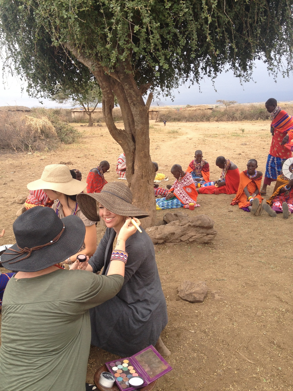 On location in  Amboseli National Park , Kenya with Kirsten and team.  Kirsten was prepping for a promotional video to help tell the story of these beautiful Massai women  Raven + Lily  is in partnership with.