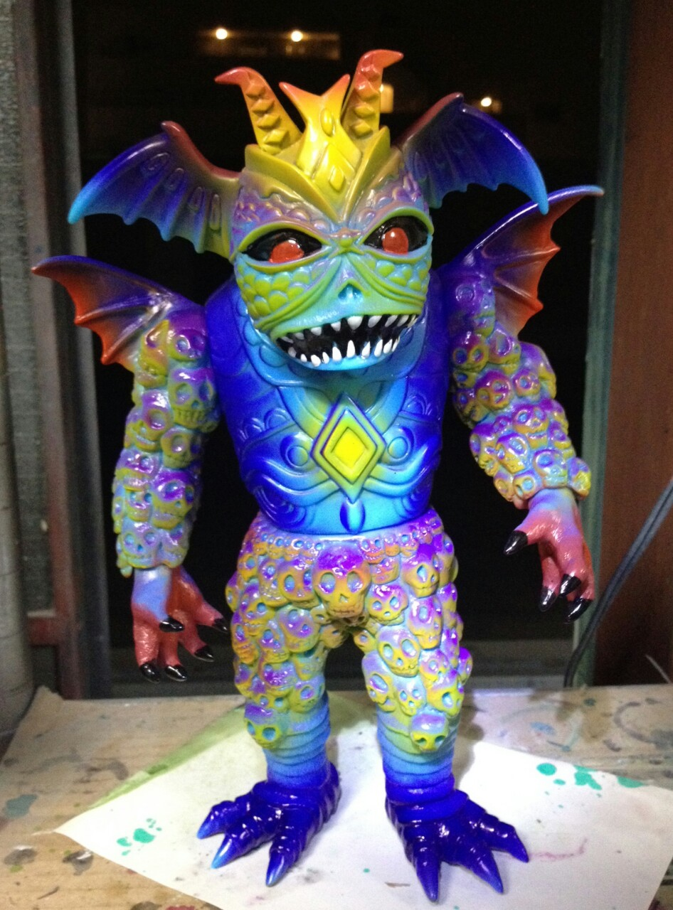 Ultrus Bog by Skinner. Produced by Lulubell Toy Bodega.    This thing is pure insanity, but it works. I hesitated and missed the pre order. Bah!
