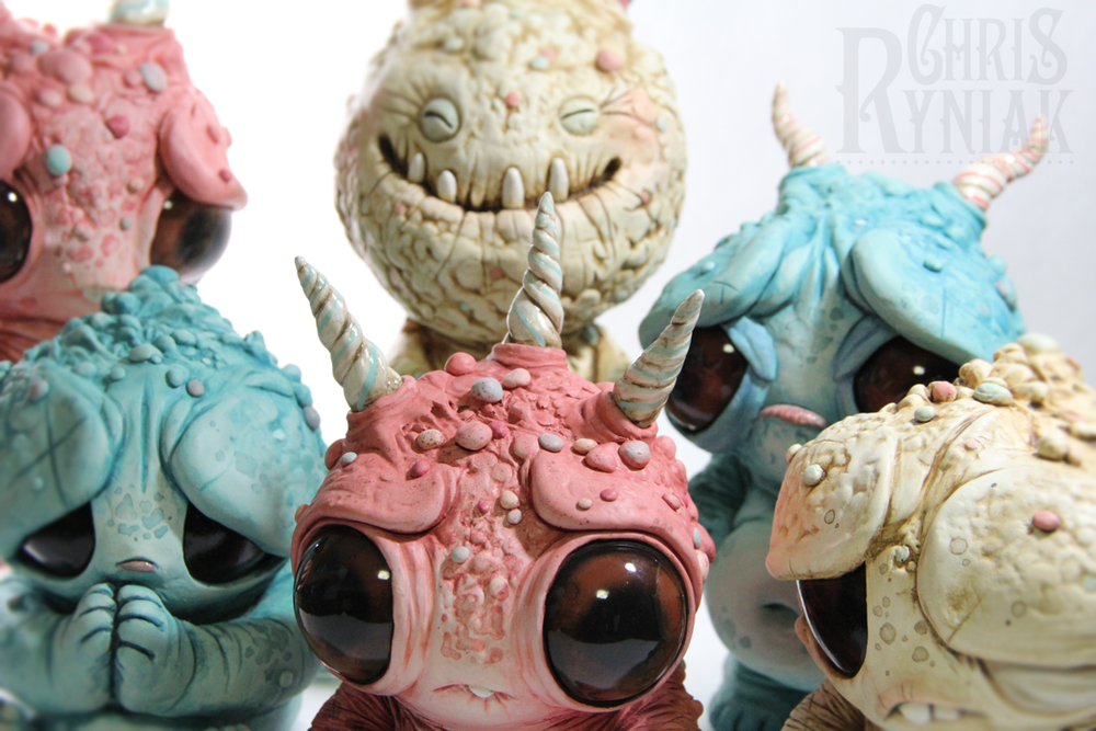 Chris Ryniak has been churning out these little beasties for an upcoming show in Japan. I love em. Chris needs his own mini series ASAP! Follow this reblog back to his tumblr to follow his work.    chrisryniak :     For Monsters & Misfits II…at Kusakabe Folk Museum Takayama, Japan, April 13th 2012.