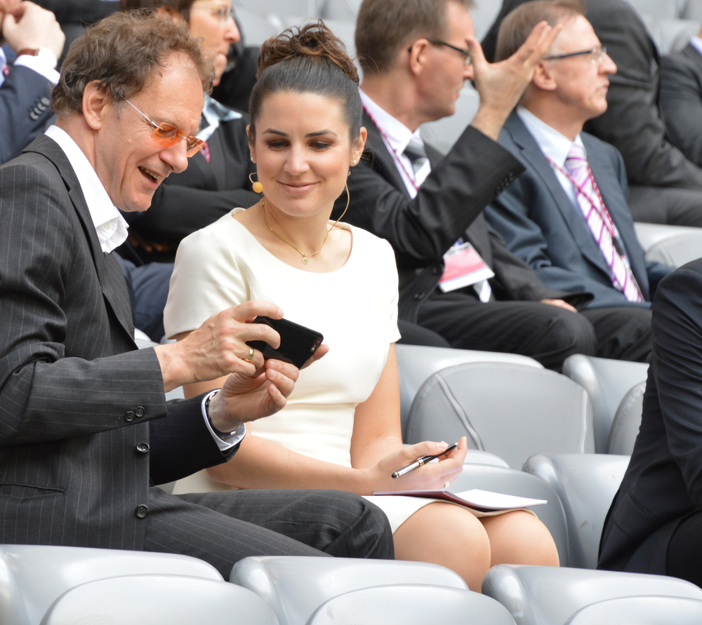 Moderation in der Allianz Arena 2015