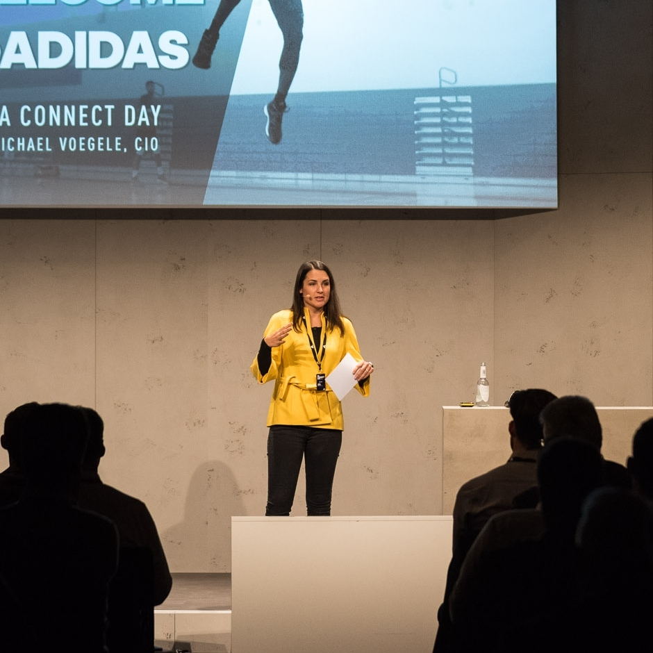 Eventmoderation bei adidas 2017