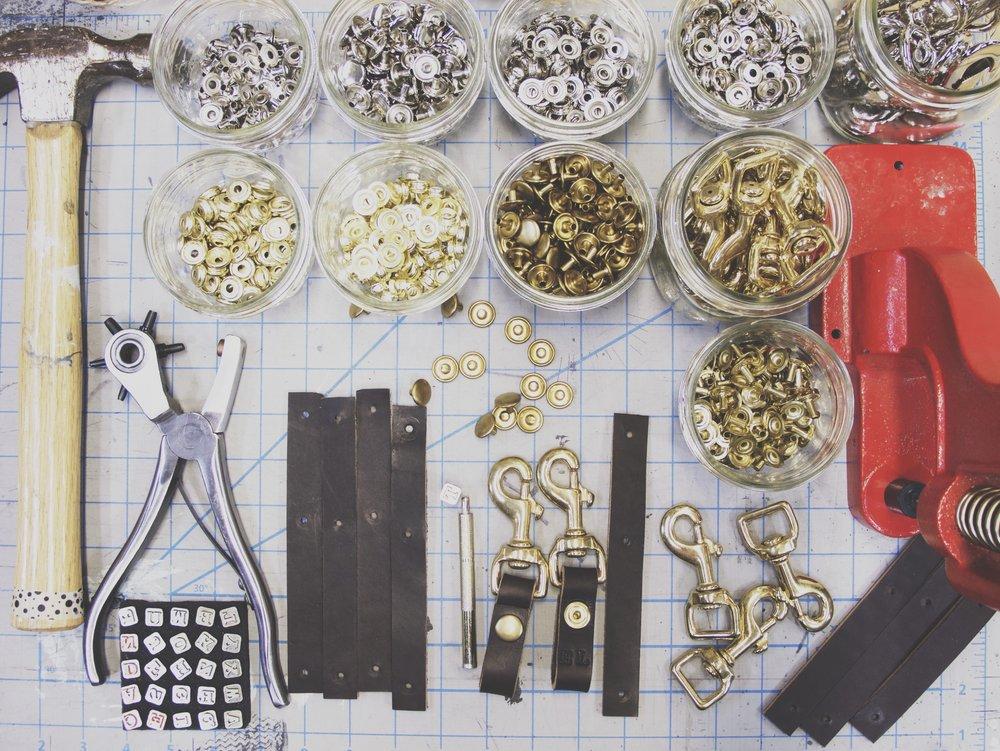 Leather Key holder tools.JPG