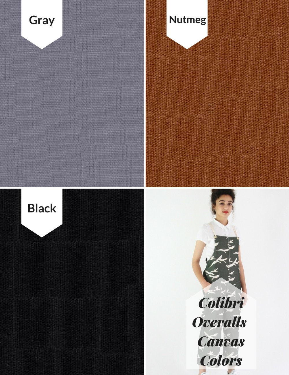 Colibri Overalls Color Choices