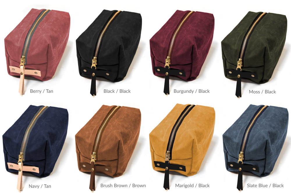 Woodland Dopp Kit Color Combos