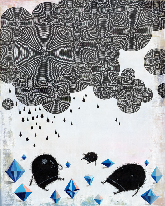 "Diamond Core #1 (Acid Rain) | 16"" x 20"" 