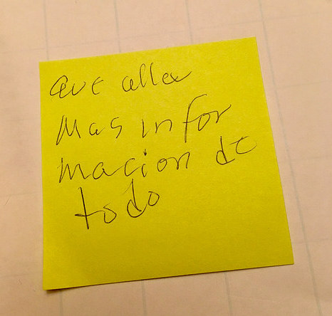 "In a listening session, one participant wrote that she wants ""more information on everything."""