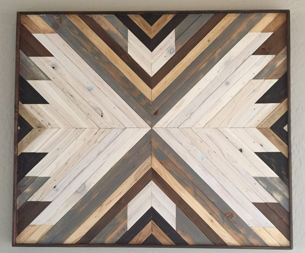 Gentil #2   Reclaimed Wood Wall Art