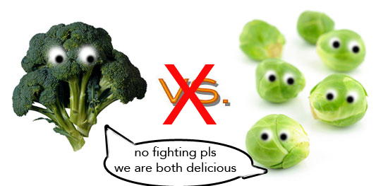 broccoli and brussels sprouts cartoon love