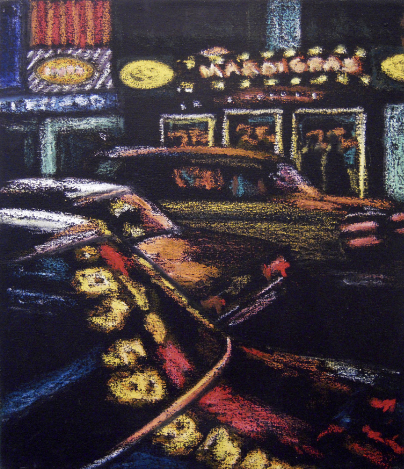 Mardi Gras - 8th Avenue, 1983, oil on linen.