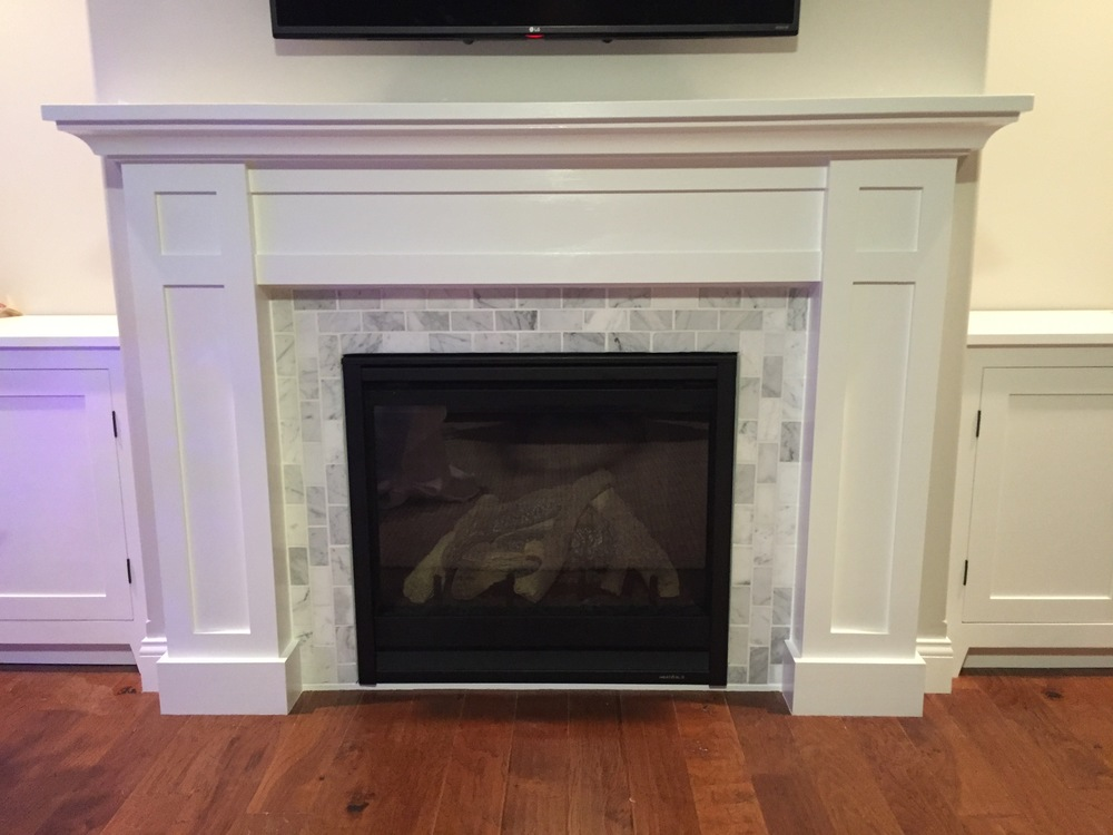 Shaker Styled Mantel Fireplace