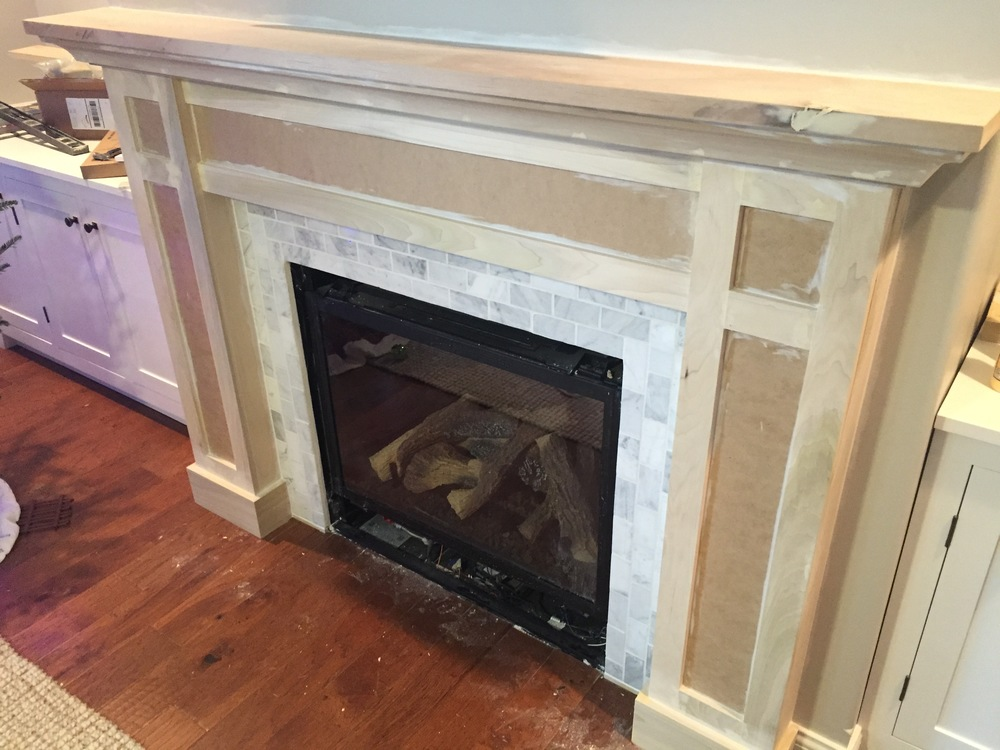 Fireplace Design fireplace caulk : How to Build a Built-in Part 2 of 3 - The Fireplace Mantel and ...