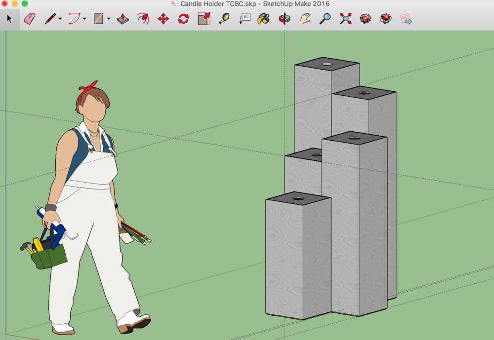 Google SketchUp Model of the Advent Calendar Pedestals by Josh Rucinski