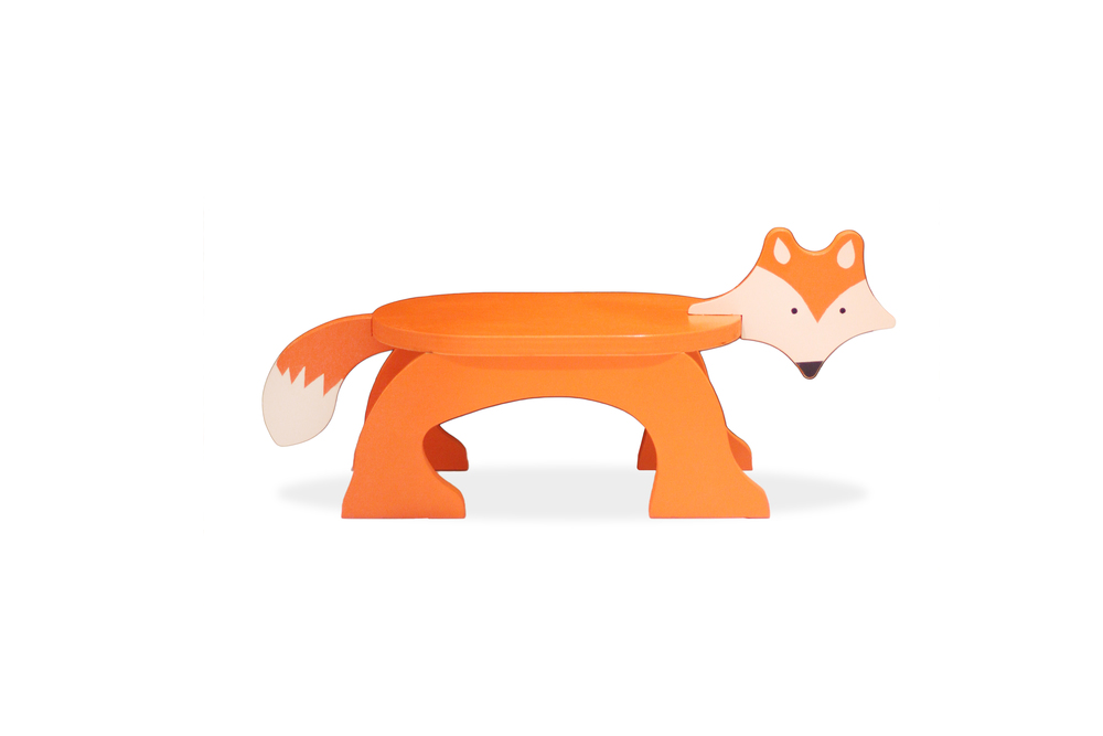 Fox Stool - Painted