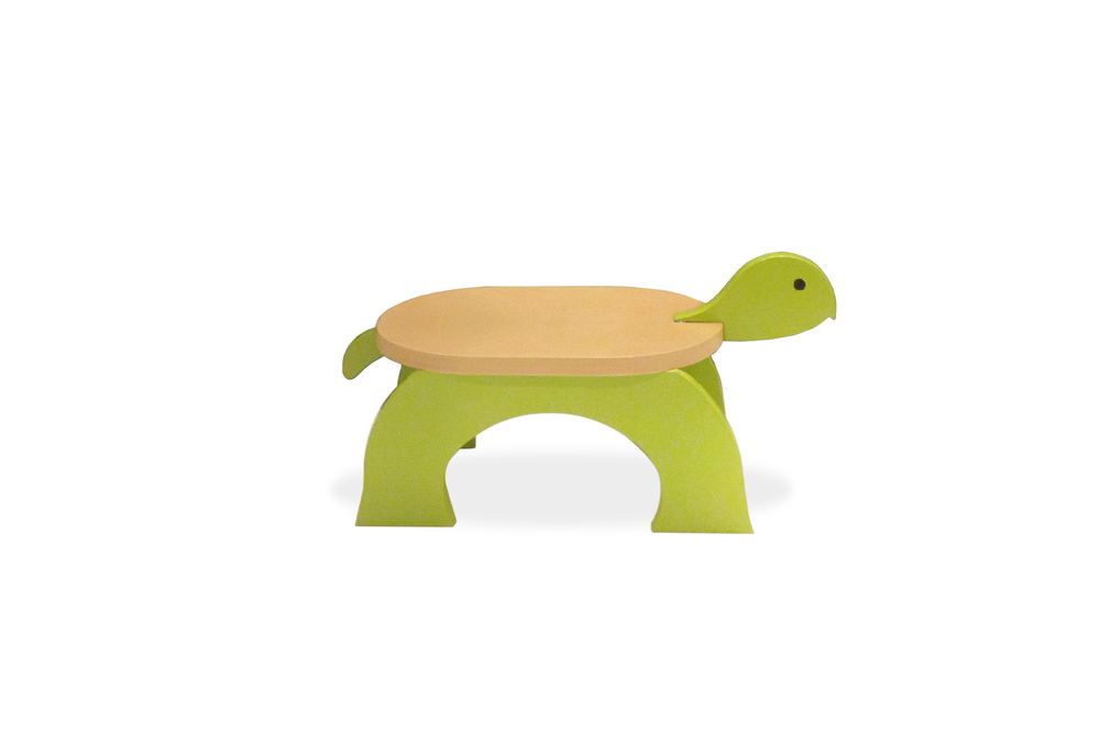 Turtle Stool - Painted