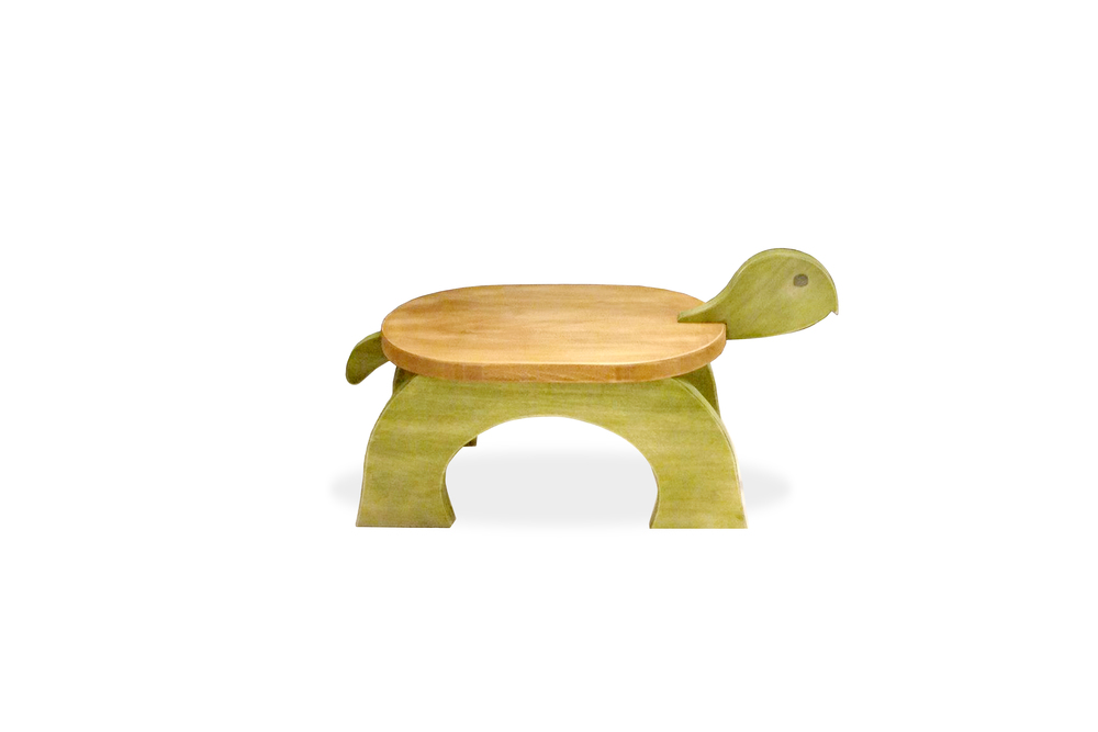 Turtle Stool - Stained