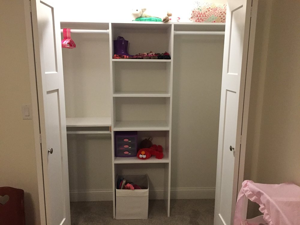 Custom girls bedroom closet