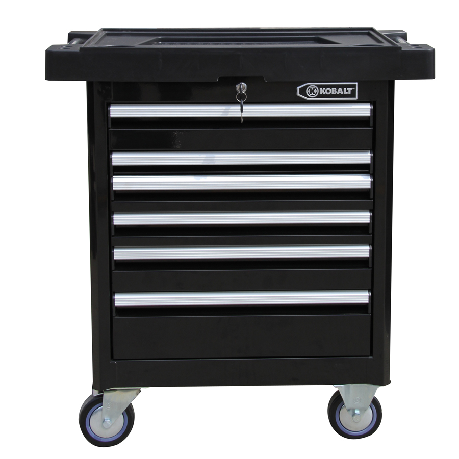 Kobalt 35.6-in x 27-in 6-Drawer Ball-Bearing Steel Tool Cabinet (Black)  Item # 538544 Model # HS27PCRC5D-13
