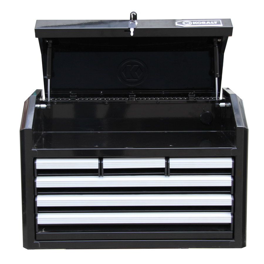 Kobalt 17.25-in x 26-in 6-Drawer Ball-Bearing Steel Tool Chest (Black)   Item # 538541 Model # HS26PCTC6D-13